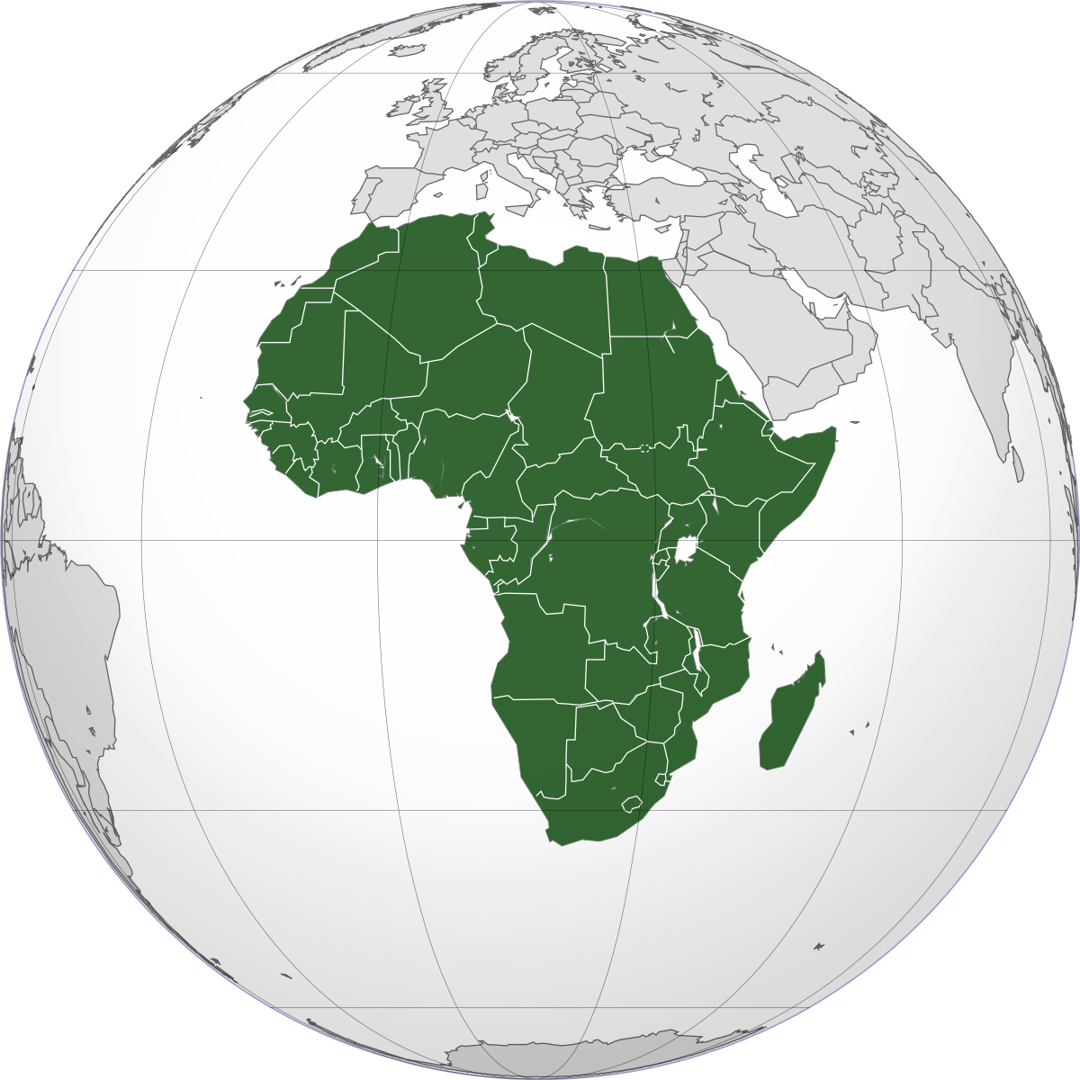 area in land africa