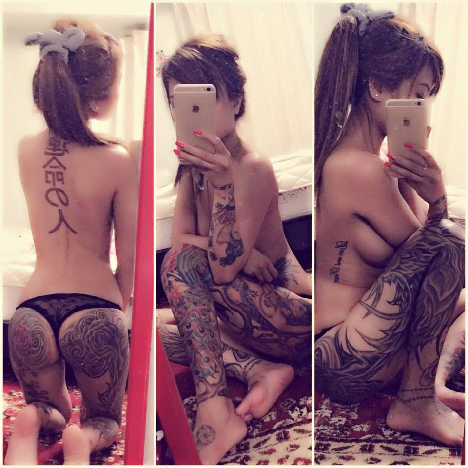 tattoos with hot girls asian