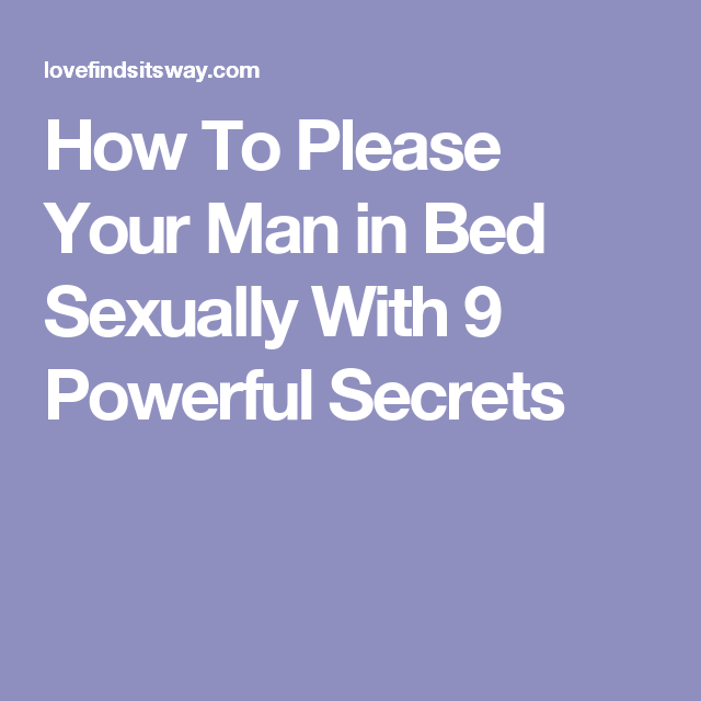 pleasure to man how sexually your