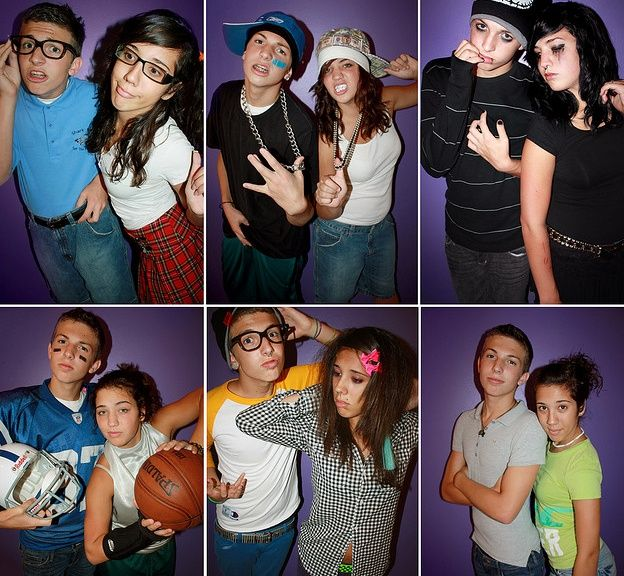 social cliques groups style teen